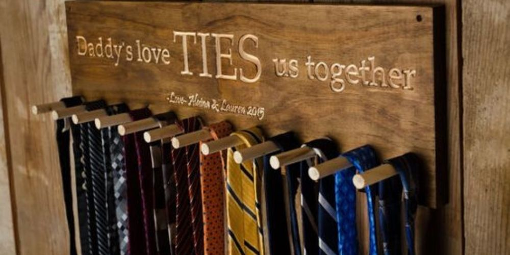 diy father's day tie rack