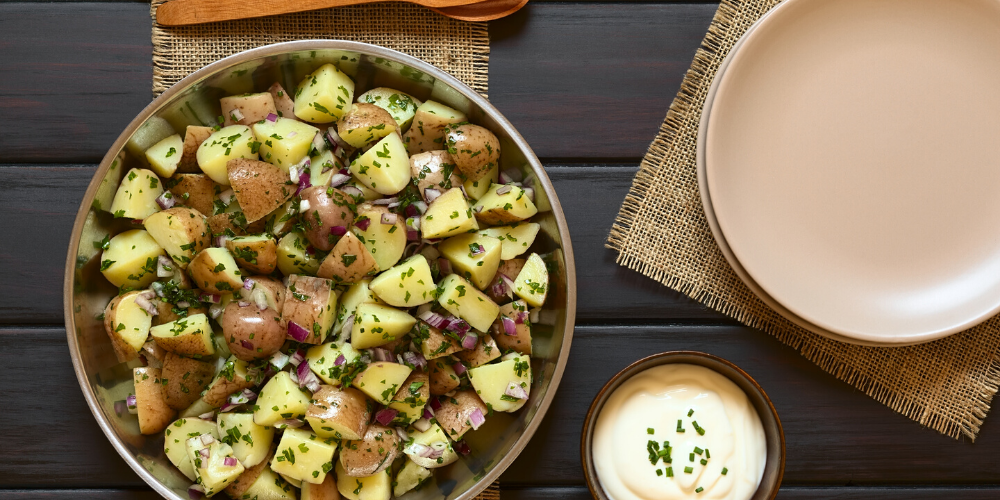 grilled potato salad | 4th july BBQ recipes